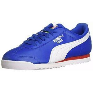 PUMA Roma Basic Olympian Blue, White, Red Sz 12
